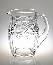 A Heisey Glass Pitcher