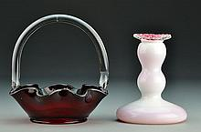 Two Pcs American Art Glass