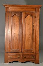 Antique Eastlake Carved Pine Wardrobe
