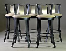 (5) Scott Shuptrine Metal Bar Stools