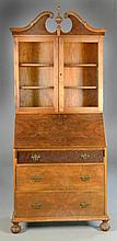 Antique Drop-front Secretary of Mixed Woods