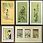 (5) Japanese Woodblock Prints