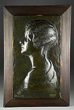 A.S. Gorrell Bronze Plaque of Peggy Guggenheim