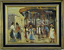 George Hendrik Breitner Dutch -Oil Painting on Board