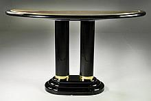 Henredon Art Deco Style Lacquer Console Table
