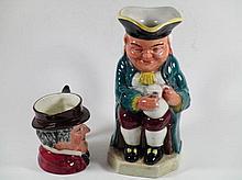 Twee Engelse jugs ca 1900, 11 en 24cm