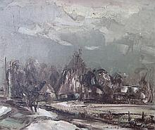 Karel Colnot (1921- 1996)'Winterlandschap' olie op doek, ges. 50x60cm