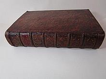 Boek 'Het leven en bedryf van den heere Michiel de Ruijter' door Gerard Brandt, vierde druk, 1746, in lederen band zonder de platen