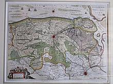 Kaart van Vlaanderen, Guiljelmus en Iohannes Blaeuw exc. Amsterdami, 40x52cm