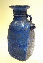 Oud glazen flesje, Romeins model, 16,5cm