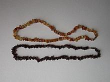 Granaten en agaten snoer, ca 50cm