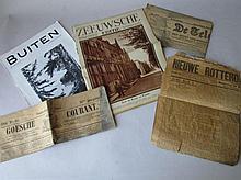 Oude tijdschriften: Buiten 1930, Zeeuwsche 1929, Goese courant 1906, Telegraaf 1906 en Rotterdamsche courant 1905