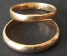 TWO (2) 14kt GOLD WEDDING BANDS