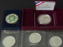 FIVE (5) SILVER COMMEMORATIVE COINS