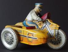 MARX WINDUP POLICE MOTORCYCLE TOY