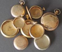 ANTIQUE GOLD FILLED POCKET WATCH CASES