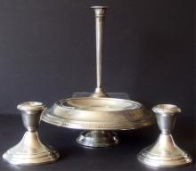 GROUP OF STERLING WEIGHTED HOLLOWWARE