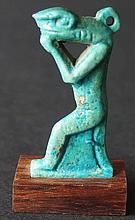 EGYPTIAN NEHEBKAU FAIENCE AMULET 3rd Int period