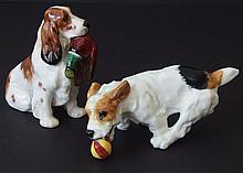 TWO (2) ROYAL DOULTON DOG FIGURINES