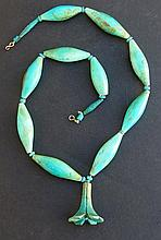 EGYPTIAN FAIENCE LOTUS FLOWER NECKLACE New Kingdom
