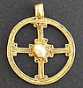 GOLD CROSS & PEARL PENDANT Ptolemaic Period