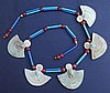 EGYPTIAN FAIENCE AEGIS & CARNELIAN NECKLACE 3rd Int. Period