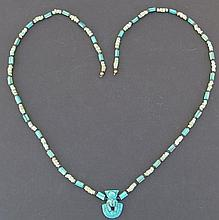EGYPTIAN AEGIS FAIENCE NECKLACE 3rd Int. Period
