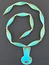 EGYPTIAN FAIENCE AMARNA MENAT NECKLACE