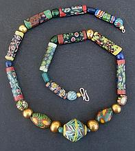 EGYPTIAN MOSAIC GLASS BEADED NECKLACE Late Period