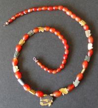 EGYPTIAN GOLD WEDJAT NECKLACE