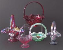 FENTON GLASS BASKETS