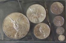 MEXICAN LIBERTAD SILVER COIN SET