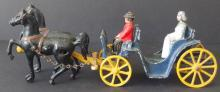 STANLEY CAST IRON TOY HORSE & CARRIAGE
