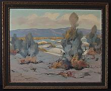 RUSSELL SWAN CALIFORNIA DESERT LANDSCAPE PAINTING
