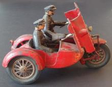 HUBLEY INDIAN ARMORED TOY MOTORCYCLE
