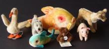 LOT OF STEIFF ANIMALS & FISH