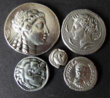 ANCIENT GREEK & ROMAN SILVER COINS