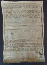 DATED 1831 NEEDLEWORK SAMPLER