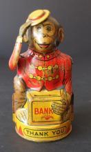 CHEIN MONKEY TIP HAT BANK