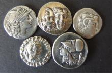 ANCIENT GREEK & ROMAN SIVER COINS