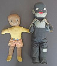 BLACK AMERICANA CLOTH DOLLS (2)