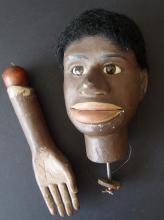 BLACK AMERICANA EARLY MARIONETTE DUMMY HEAD