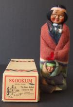 VINTAGE SKOOKUM DOLL W/ORIGINAL BOX