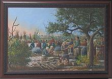 BUD BREEN NATIVE AMERICAN OIL PAINTING