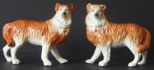 VICTORIAN STAFFORDSHIRE COLLIE DOGS