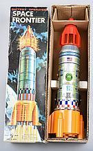 BATTERY OP SPACE FRONTIER ROCKET SHIP MIB