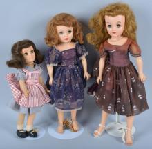 Lot of 3 Vintage Ideal Dolls