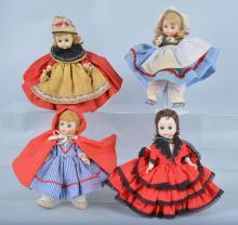 Lot of 4 Madame Alexander Dolls