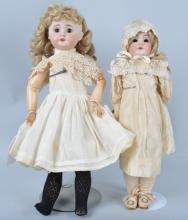 Lot of 2  Antique German Bisque Dolls