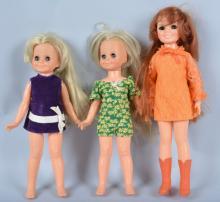 Lot of 3 1960's Ideal Crissy Dolls